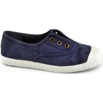 Chaussures Enfant Baskets basses Cienta bleu unisexe chaussures tissu élastique Blu