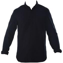 Vêtements Homme Chemises manches longues Fred Perry WOVEN PIQUE Bleu Marine