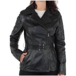 Vêtements Blousons Pallas Cuir Blouson  sélection Hande en cuir ref_yag35756-noir noir