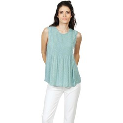 Vêtements Femme Tops / Blouses Indi & Cold Indi And Cold Blusa Mujer MI317 Estampada Verde Vert