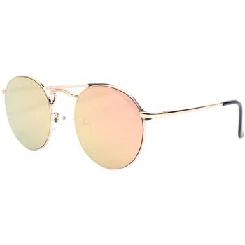 Montres & Bijoux Lunettes de soleil Eye Wear Lunettes de soleil rondes miroir doré Olky Jaune