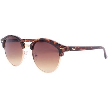 Montres & Bijoux Lunettes de soleil Eye Wear Lunettes de soleil rondes vintage marron club Nory Marron