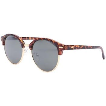 Montres & Bijoux Lunettes de soleil Eye Wear Lunettes de soleil rondes écailles vintage club Nory Marron