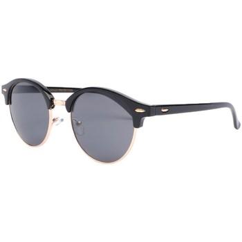 Montres & Bijoux Lunettes de soleil Eye Wear Lunettes de soleil rondes noires vintage club Nory Noir