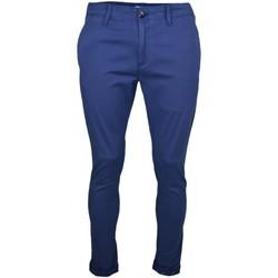 Vêtements Homme Pantalons Tommy Jeans Pantalon chino  bleu marine slim fit pour homme Bleu
