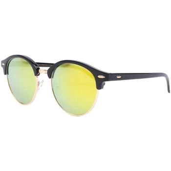 Montres & Bijoux Lunettes de soleil Eye Wear Lunettes de soleil rondes miroir jaune doré Nory Jaune