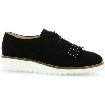 Chaussures Femme Derbies So Send Derby cuir velours Noir