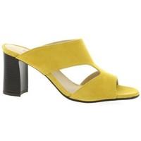 Chaussures Femme Mules Vidi Studio Mules cuir velours Jaune