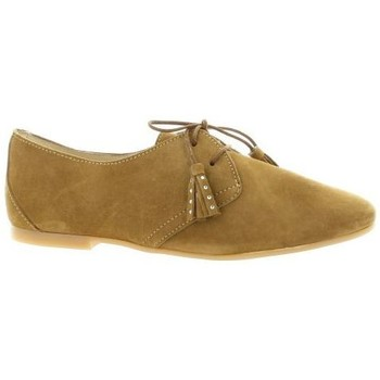 Chaussures Femme Derbies So Send Derby cuir velours Camel
