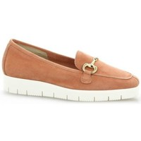 Chaussures Femme Mocassins Reqin's Mocassins cuir velours Rose