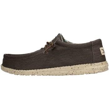 Chaussures Homme Chaussures bateau Hey Dude WALLY STRETCH Sneaker Homme Marron Marron