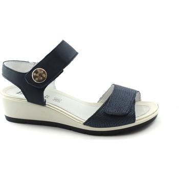 Chaussures Femme Sandales et Nu-pieds Enval SOFT 1281611 bleu sandales femme semelle en caoutchouc souple d Blu