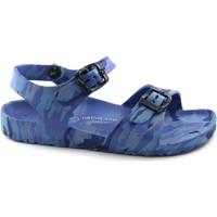 Chaussures Enfant Sandales et Nu-pieds Grunland KUBE SA1462 militaire bleu sandales enfant caoutchouc boucle bi Verde
