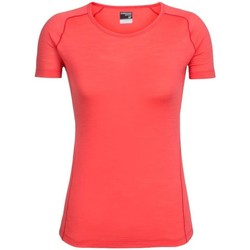 Vêtements Femme T-shirts manches courtes Icebreaker W Zeal Ss Crewe Rouge