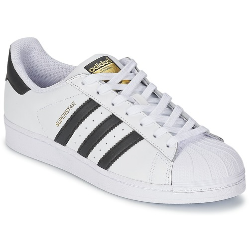 adidas Originals Essential Star M Blanc-Noir-Bleu - Chaussures Baskets basses Homme