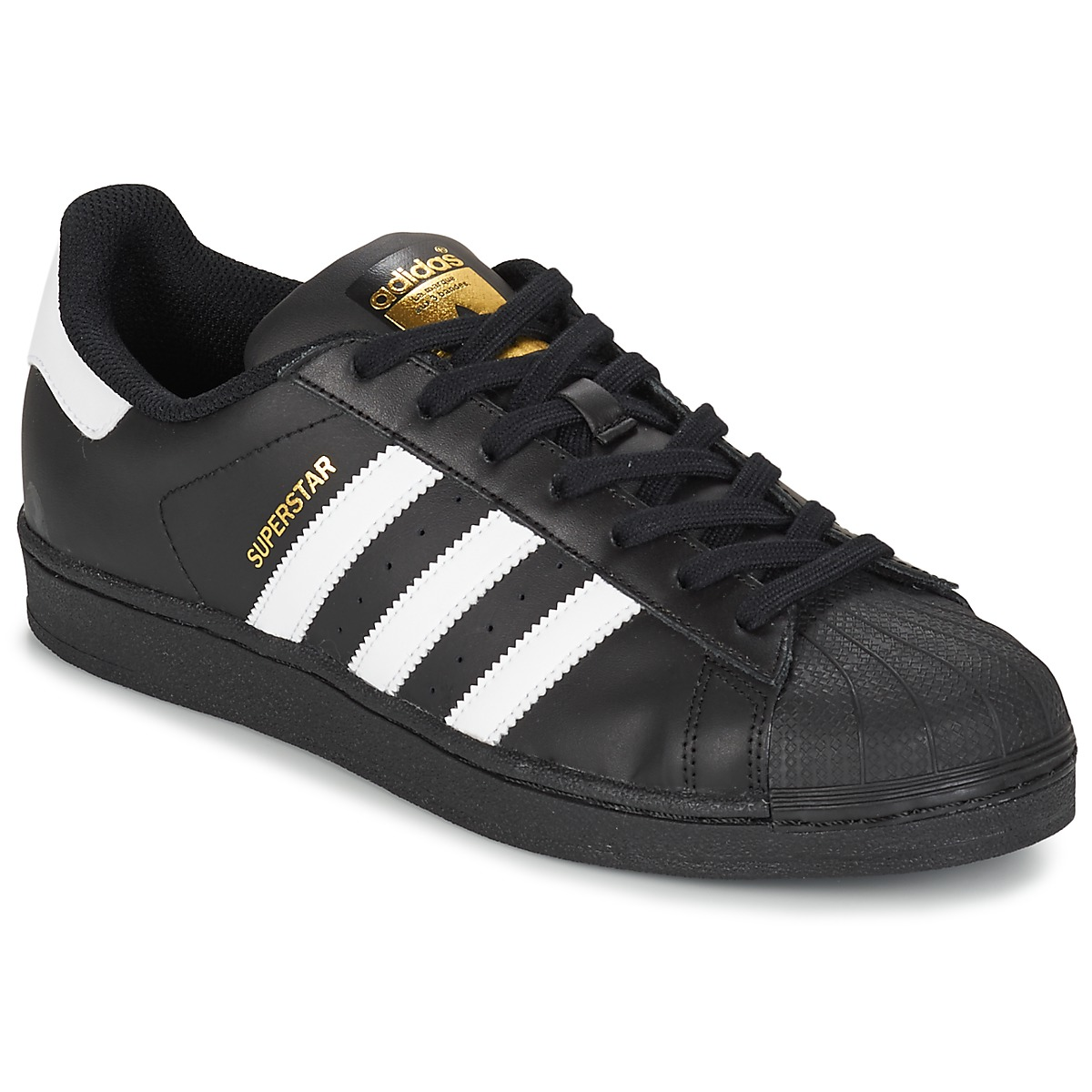 outlet store sale 18415 087a7 Chaussures Homme Baskets basses adidas Originals SUPERSTAR FOUNDATIO Blanc   noir