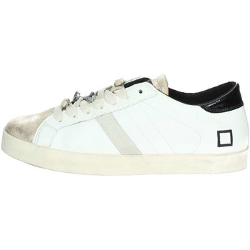 Chaussures Femme Baskets basses Date D.a.t.e. HILL LOW-10B Petite Sneakers Femme Blanc/Or Blanc/Or
