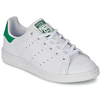 bdbe9e4a364478 Chaussures Enfant Baskets basses adidas Originals STAN SMITH J Blanc   vert