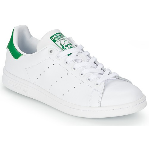 los angeles 6a362 a632f Chaussures Baskets basses adidas Originals STAN SMITH Blanc   vert