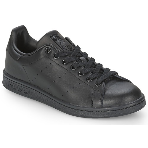 Chaussures Baskets basses adidas Originals STAN SMITH Noir 0ffb3f5423f