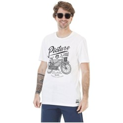 Vêtements Homme T-shirts & Polos Picture Organic Clothing Dad & Son Wheel Blanc