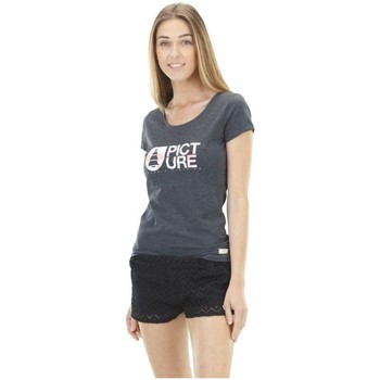 Vêtements Femme T-shirts & Polos Picture Organic Clothing Basement Palm Noir