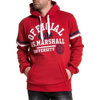 Vêtements Homme Sweats U.S Marshall Sweat homme rouge université à capuche rouge