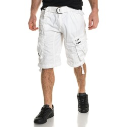 Vêtements Homme Shorts / Bermudas Geographical Norway Bermuda cargo homme blanc blanc