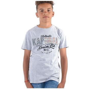Vêtements Garçon T-shirts & Polos Kaporal T-Shirt Garçon Magic Gris Gris