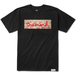 Vêtements Homme T-shirts manches courtes Diamond Supply CAMISETA  APPAREL FLAMINGO BOX Noir