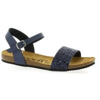 Chaussures Femme Sandales et Nu-pieds K. Daques Nu pieds cuir pailleté Marine