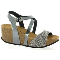 Chaussures Femme Sandales et Nu-pieds K. Daques Nu pieds cuir laminé  acier Acier