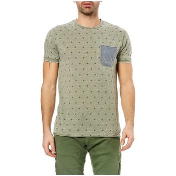Vêtements Homme T-shirts manches courtes Le Temps des Cerises T-Shirt Homme Luke Army 25