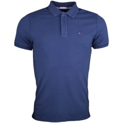 Vêtements Homme Polos manches courtes Tommy Jeans Polo  basique bleu marine pour homme Bleu