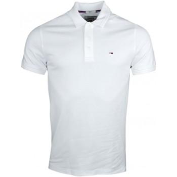 Vêtements Homme Polos manches courtes Tommy Jeans Polo  basique blanc slim fit pour homme Blanc