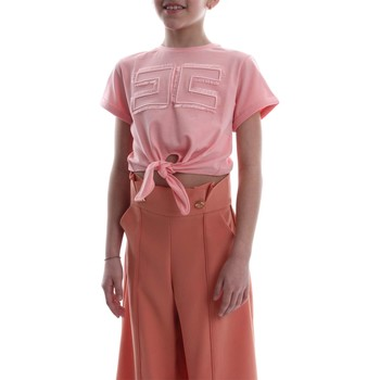Vêtements Fille T-shirts manches courtes Elisabetta Franchi EFTS26 JE95 RE008. T-SHIRT fille Rosa Rosa