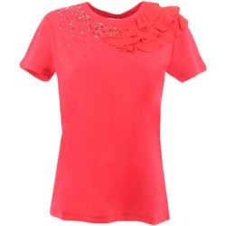 Vêtements Femme T-shirts manches courtes My Twin By Twin Set JS82RS T-shirt Femme Rouge Rouge