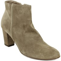 Chaussures Femme Boots Progetto boots velours beige Beige