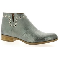 Chaussures Femme Boots Pao Boots cuir laminé Argent