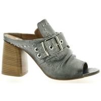 Chaussures Femme Sandales et Nu-pieds Pao Mules cuir laminé Argent