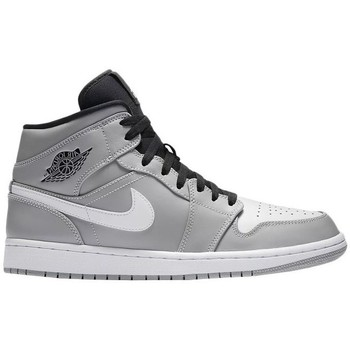 Chaussures Homme Baskets montantes Nike Air Jordan I Mid Gris