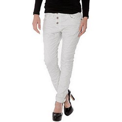 Vêtements Femme Pantalons Please PANTALON BOYFIT BLANC