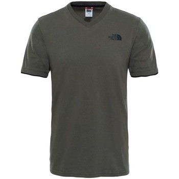 Vêtements Homme T-shirts manches courtes The North Face M Vneck S/s Tee Kaki