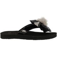Chaussures Femme Tongs UGG Tong  Poppy - Ref. POPPY-BLK Noir