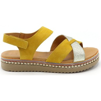 Chaussures Femme Sandales et Nu-pieds Mkd SANDALE PLYMOUTH MOUTARDE