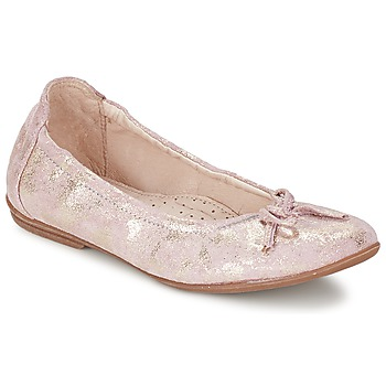 Chaussures Fille Ballerines / babies Ramdam LISBONNE Rose Doré