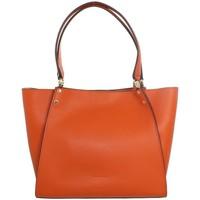 Sacs Sacs porté épaule Pourchet Sac porté épaule  en cuir ref_pou41939 Orange 36*23*9 orange