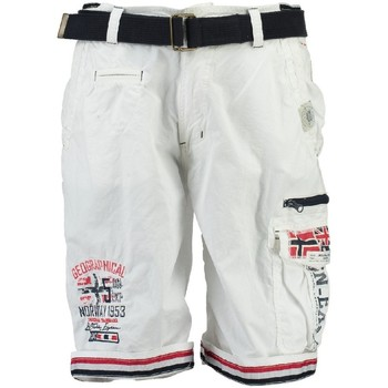 Vêtements Garçon Shorts / Bermudas Geographical Norway Bermuda Enfant Parodie Blanc