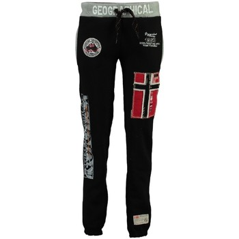 Vêtements Fille Pantalons de survêtement Geographical Norway Jogging Enfant Myer Noir