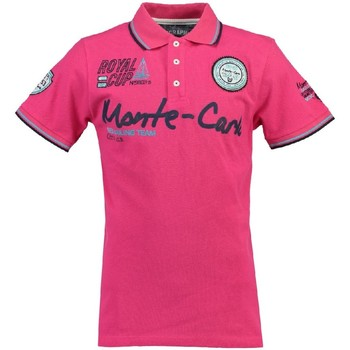Vêtements Garçon Polos manches courtes Geographical Norway Polo Enfant Karo Rose